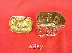 Boite A Thé Argent Massif Vermeil Époque 18 Eme Antique Silver Tea Box Coffret