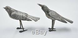 Boîte De Bétel OISEAUX ARGENT MASSIF CAMBODGE KHMER (silver birds case)