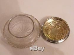 Boite à Onguen en Argent Massif et Cristal Taillé Silver Silber