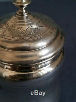++ Boite à thé argent massif 800 Italian Italie silver tea box vers 1970 ++