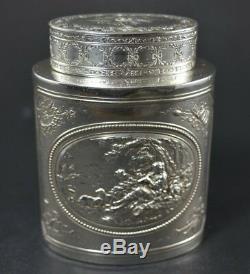 Boite a thé argent massif (tea box sterling silver)