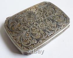 Boite argent massif avec peinture miniature en émail enamel silver box painting