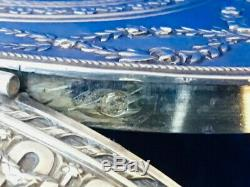 Boite argent massif ovale style louis XVI pillules coffret silver box HÉNIN &cie