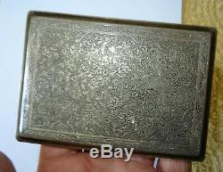 Boite, etui a cigarette box persian islam iznik ottoman SILVER argent, 147 gr