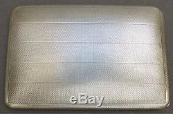 Boite étui à cigarettes en argent massif ART DECO daté 1926 silver box 205 gr