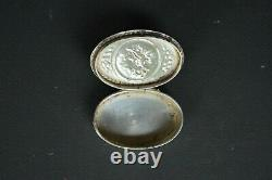 Boite tabatiere argent massifangelot(Antique french Sterling Silver Snuff Box)