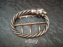 Boucle de Ceinture Argent TÊTE de CHIEN Louis BAUDET 1900 silver buckle