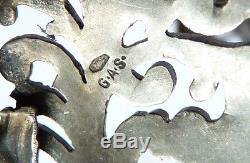 Boucle de cape argent massif signé GEORG ADAM SCHEID 19e silver buckle GAS 56 g