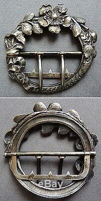 Boucle de ceinture argent massif Louis BAUDET ART NOUVEAU 1900 silver buckle