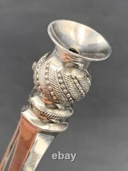 Bouquetière de revers argent massif c. 1920 Solid silver lapel pin Vase
