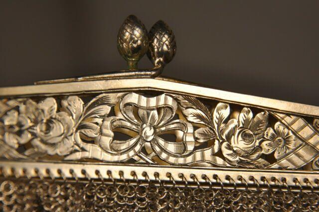 Bourse Ancien Cotes Maille Argent Massif Antique Solid Silver Mesh Chain Purse
