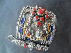 Bracelet Kabyle Argent Massif Corail Bijou Berbere Amazigh Ethnic Silver Jewel