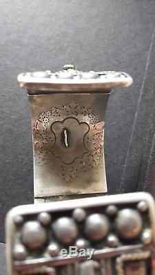 Bracelet ancien argent massif origine ethnique, vintage silver cuff, Yemen