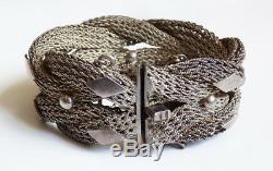 Bracelet chaine tressée en argent massif silver 97 g