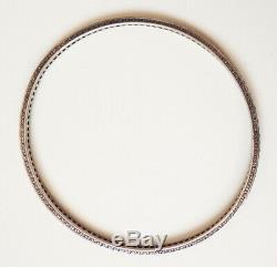 Bracelet en argent massif et pierres bleues saphir Vers 1900 silver antic
