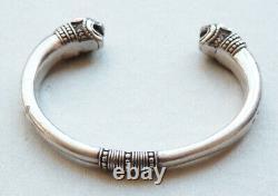 Bracelet en argent massif signé ARTHUS BERTRAND silver lion