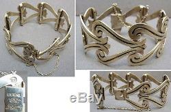 Bracelet en argent massif signé Maricela Taxco Sterling Mexico silver