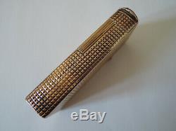 Briquet DUNHILL ALDUNIL vermeil argent massif gaz vintage lighter gas silver