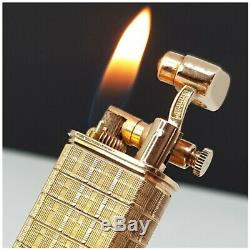 Briquet DUNHILL SYLPHIDE STERLING SILVER vermeil Argent massif-gaz Lighter
