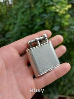 Briquet LIGHTER Dunhill Sport Sterling Silver Rare Argent Massif