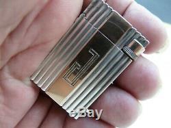Briquet à essence en argent massif silver solid