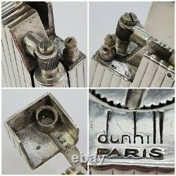Briquet essence DUNHILL ALDUNA argent massif-petrol Lighter Sterling silver