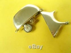 Briquet essence argent massif forme gourde solid silver PETROL LIGHTER Feuerzeug
