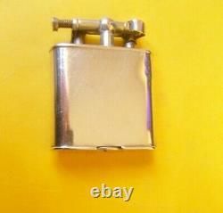 Briquet essence dunhill argent massif solid silver LIGHTER Feuerzeug 1930