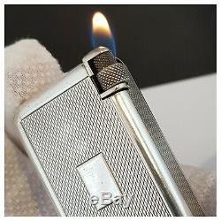 Briquet gaz QUERCIA-FLAMINAIRE ARGENT MASSIF SOLID STERLING SILVER Lighter