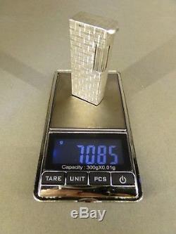Briquet lighter Alfred DUNHILL Aldunil Alduna argent massif solid silver RARE