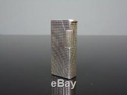 Briquet lighter gas Alfred DUNHILL Aldunil Alduna Argent Massif Solid Silver