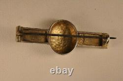 Broche Ancien Argent Massif Emaille Russe Antique Enameled Silver Russian Brooch