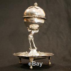 Brûle-parfum pot-pourri boite à épices bessamim Argent Massif XVII Solid silver