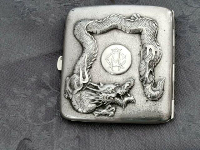 Chinese Export Silver Box Dragon By Zeewo Chine Argent Massif Boite 112g