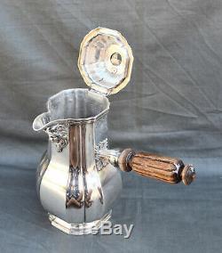CHOCOLATIERE ARGENT MASSIF MINERVE STYLE LOUIX XIV silver chocolate pot