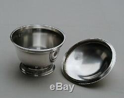 CHRISTOFLE SUCRIER EN ARGENT MASSIF MINERVE Sterling Silver Sugar Bowl