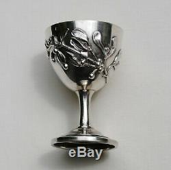 COQUETIER EN ARGENT MASSIF ART NOUVEAU GUI Sterling Silver Egg Cup