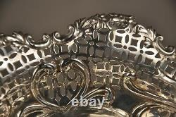 CORBEILLE COUPE ANCIEN ARGENT MASSIF ANTIQUE SOLID SILVER BREAD BASKET 19th c