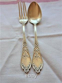 COUVERTS ARGENT MASSIF STYLE LOUIS XVI MINERVE 164 Grs SILVER SOLID CUTLERY