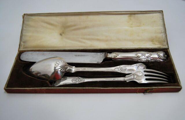 Couvert Argent Massif Gustaf Theodor Folcker Stockholm V4 1851 Sweden Silver