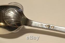 CUILLERE ARGENT MASSIF XVIIIIe 1 COQUILLE ST JACQUES Monogramme DCM SILVER N°116