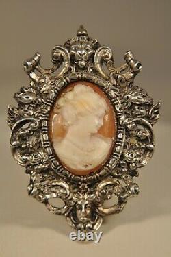 Cadre Ancien Argent Massif Antique Solid Silver Cherub Frame Era Froment Meurice