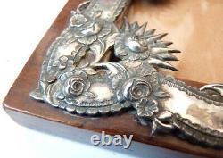 Cadre porte photo en argent et bois 19e siècle silver frame sterling
