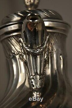 Cafetiere Egoiste Verseuse Ancien Argent Massif Antique Solid Silver Coffee Pot