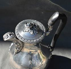 Cafetiere Theiere Verseuse Argent Massif Minerve Par Veyrat Teapot Silver