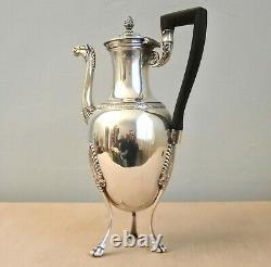 Cafetière Tripode ARGENT MASSIF Empire 2e Coq Paris 1809-1819 Silver coffee pot