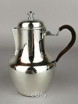 Cafetière égoïste Argent massif -Boule sifflet Minerve Antic french silver