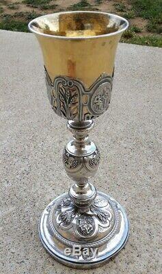 Calice Argent massif 18eme Old Silver sterling Chalice religious silver french