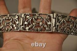 Ceinture De Mariage Argent Massif Antique Solid Silver Wedding Belt 216gr
