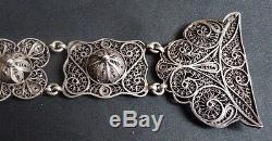 Ceinture argent massif 19e siècle Caucase Russie Russia silver belt 113 gr